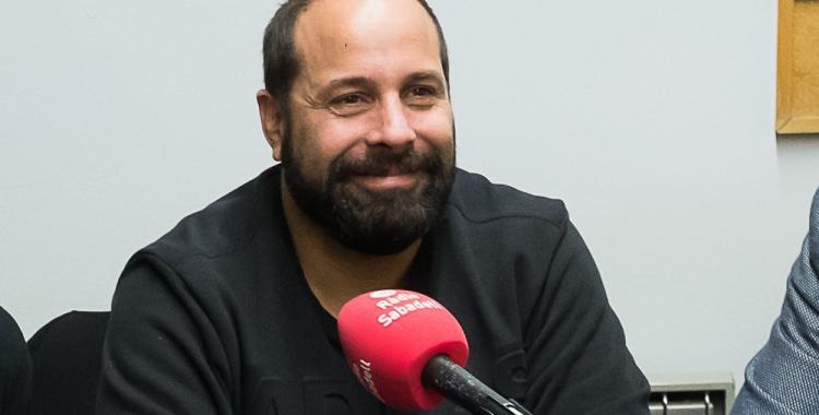 Dani Lara ahir al Pavelló Municipal de Gràcia durant la seva presentació com a director tècnic | Josep Altimis (OAR Gràcia)
