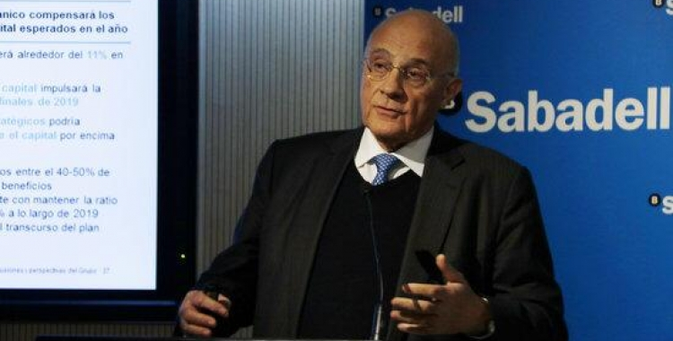 Josep Oliu, president del Banc Sabadell | ACN