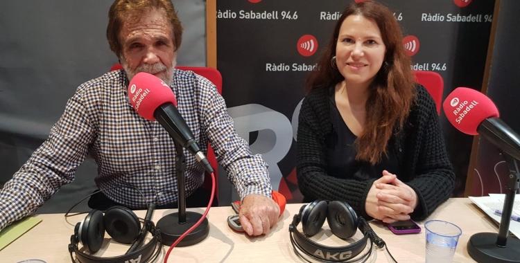 Eva Abellan i Agustín Lorca, als estudis de Ràdio Sabadell/ Pau Duran