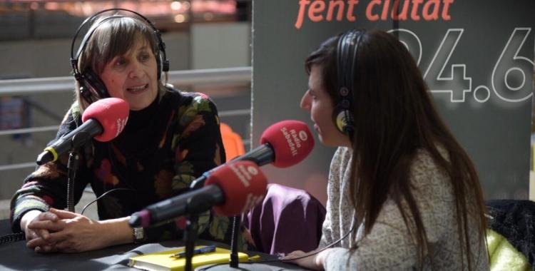 Carme Suàrez i Núria Jar, durant l'especial Al Matí del Dia Mundial de la Ràdio/ Roger Benet