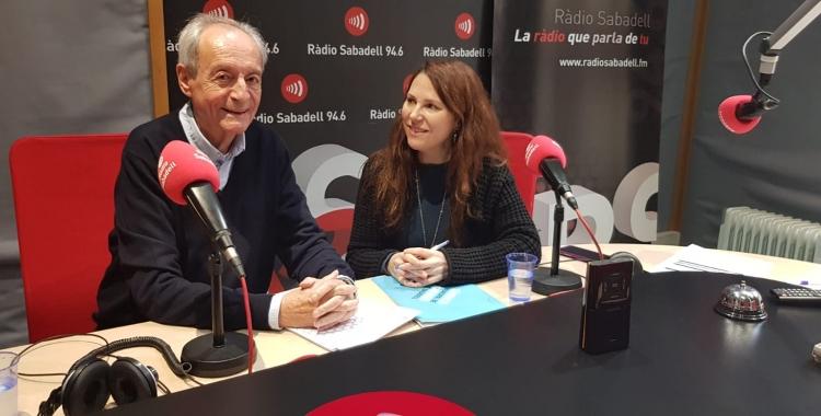 Lluís Martínez i Eva Abellán, síndica de Sabadell | Pau Duran
