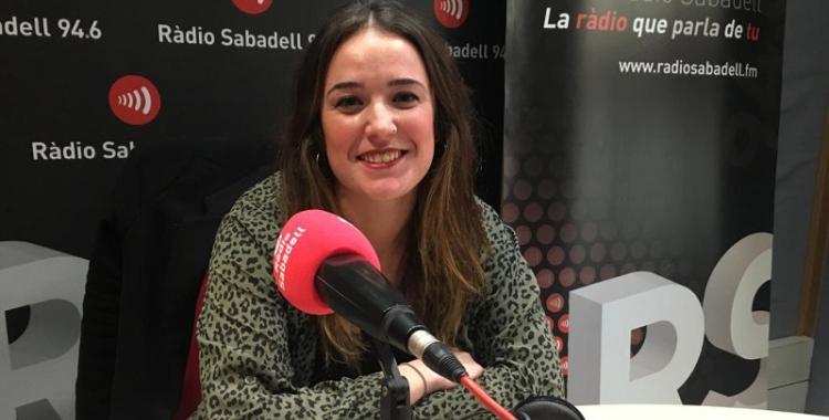 Aida Sanuy avui als estudis de Ràdio Sabadell | Mireia Sans