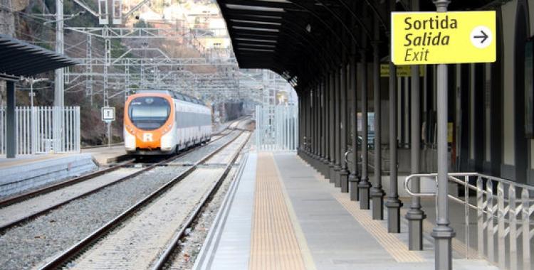 Imatge de l'estació de Manresa per on no circulen els trens des de divendres | ACN