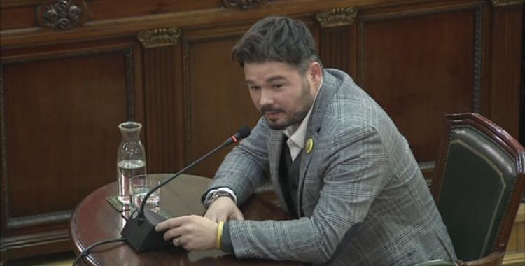 Gabriel Rufián declara al Suprem | ACN