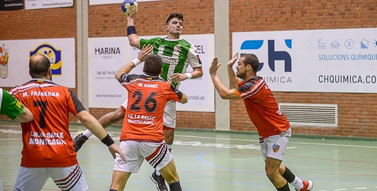 Jordi Sancho va ser el màxim golejador del partit (8). | Èric Altimis - OAR Gràcia