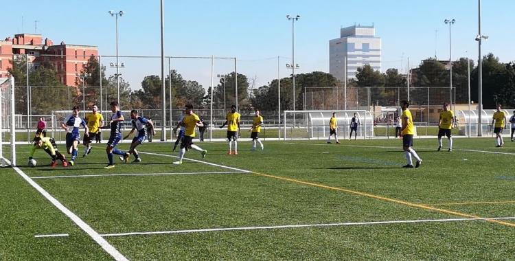 El porter de Les Franqueses va ser el millor del partit.   Sergi Park