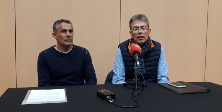 Muntada (esquerra) i Enric Garcia, director de la Fira/ Karen Madrid