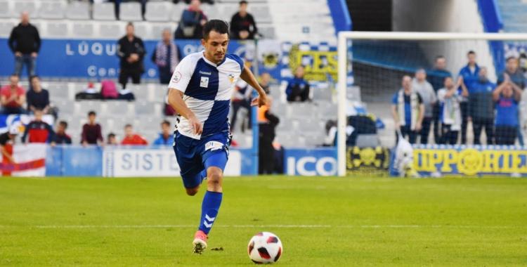 Óscar Rubio al partit de la primera volta contra l'Atlético Levante | Críspulo Díaz