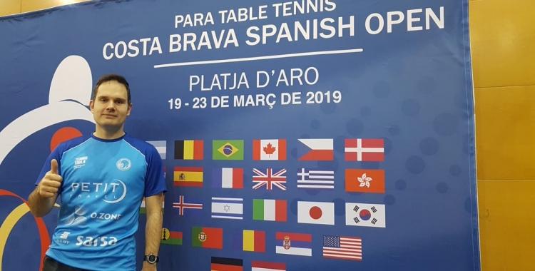 Morales, hores abans de debutar a Platja d'Aro | @CNSTennisTaula