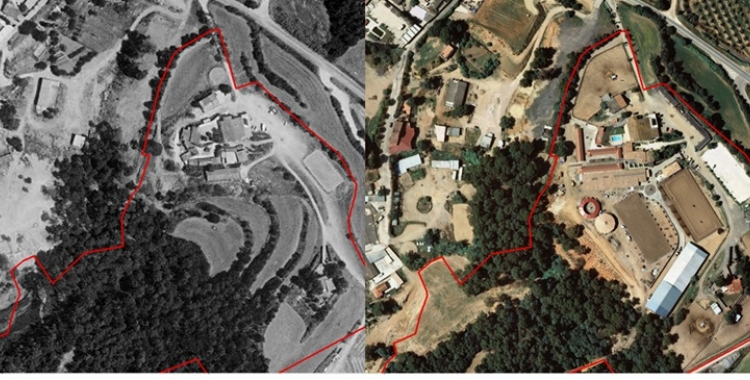 Imatge de l'evolució de la finca de Ca n'Alzina, limítrof amb Can Xupa | Entesa per Sabadell