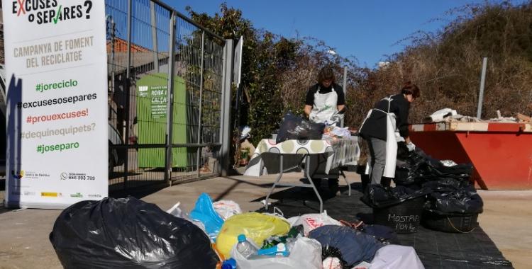 """L''Excuses o Separes"""" ha analitzat les deixalles de sis municipis vallesans/ Consorci de Residus"""