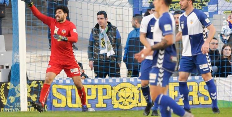 Roberto, que es va perdre el darrer partit contra el Teruel, està recuperat de la seva lesió. | Críspulo Díaz