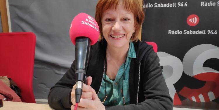 Rosa Renom als estudis de Ràdio Sabadell | Pau Duran