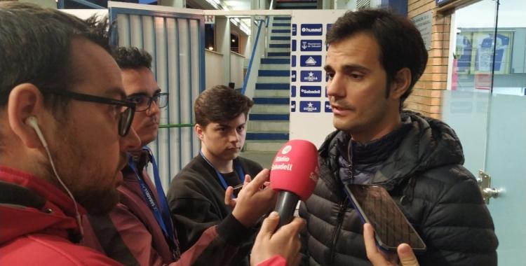 Bruno Batlle ha comparegut davant els mitjans després de la derrota | Sergi Garcés