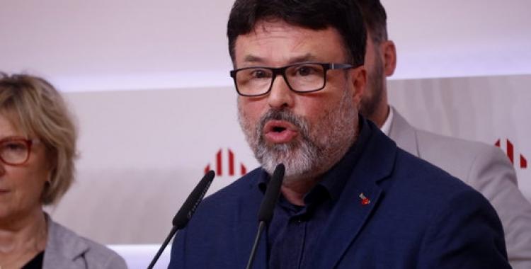 Joan Josep Nuet, durant la roda de premsa d'aquest matí | ACN