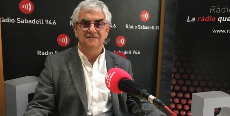 Jesús Viñas avui a Ràdio Sabadell | Mireia Sans
