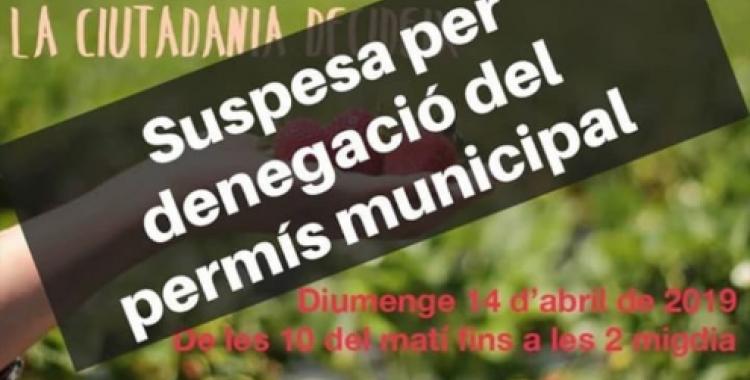 """La fira es va suspendre per """"silenci administratiu negatiu"""""""