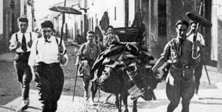 La Colla de Sabadell durant l'excursió a la Font del Sauc | Arxiu Històric de Sabadell