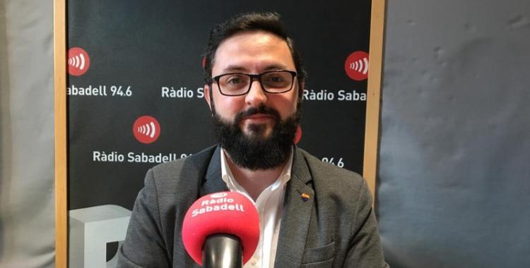 Ramon Garcia, als estudis de Ràdio Sabadell/ Mireia Sans