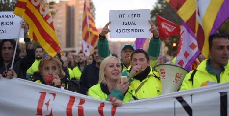 Imatge de la manifestació de treballadors d'SMATSA del novembre passat /Arxiu