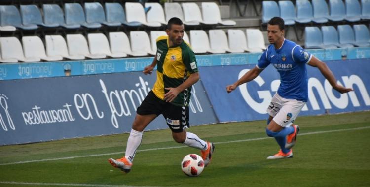 Felipe Sanchón, en el partit de la primera volta a Lleida | Críspulo Díaz