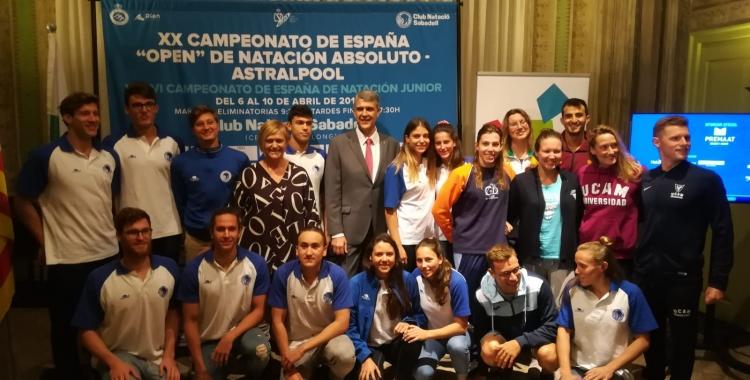La Casa Duran ha estat l'escenari per a la presentació del Campionat d'Espanya Open de Natació. | Sergi Park