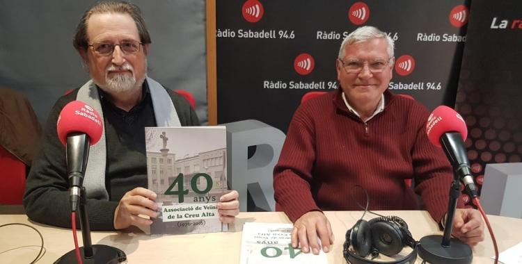 Jordi Torguet (esquerra) i Joan Rifer (dreta) presentant el llibre   Pau Duran
