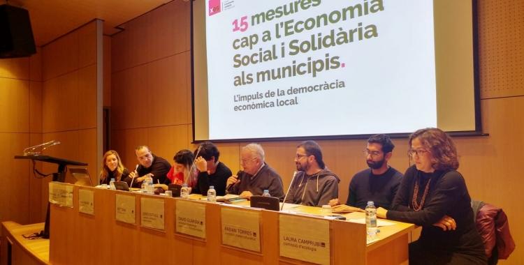 L'equip de la XES encarregat de presentar el document | Pere Gallifa