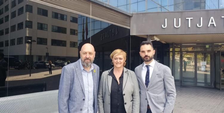 D'esquerra a dreta, Jaume Marco, Marisol Martínez i Carlos Lorente | Pere Gallifa