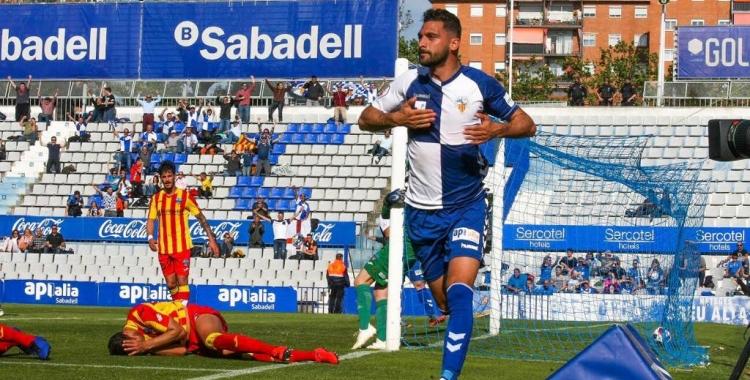 Arturo celebra l'únic gol del partit   Sendy Dihör