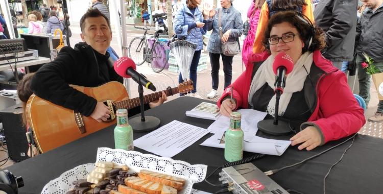 Pol Cruells entrevistat a la carpa de Ràdio Sabadell aquest matí | Pau Duran