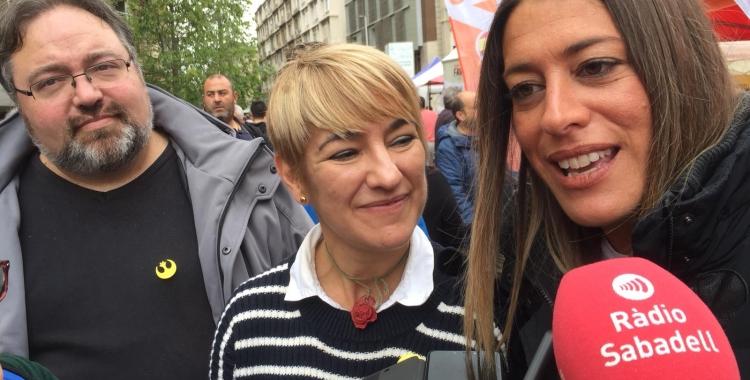 Ciruó i Nogueras durant la roda de premsa | Ràdio Sabadell