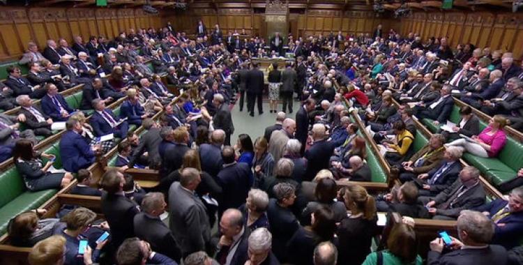 Moment de les votacions sobre el Brexit al parlament britànic | ACN
