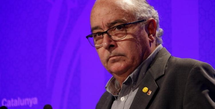 El conseller d'Educació, Josep Bargalló, ha explicat l'acord de govern en roda de premsa | Guillem Roset / ACN