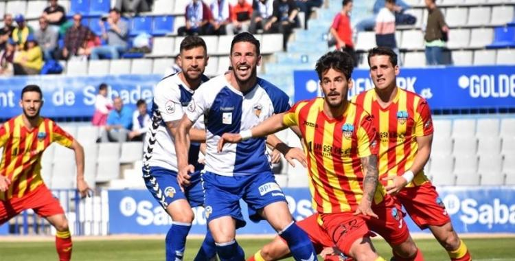 Pajarero, en el darrer partit contra el Lleida Esportiu | Críspulo Díaz