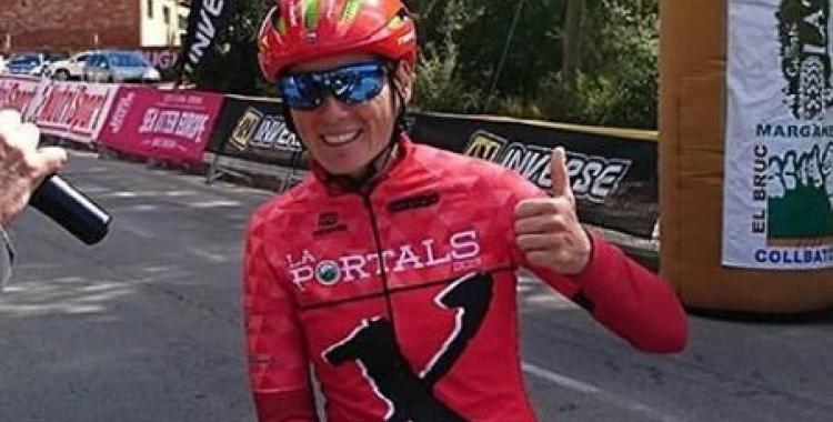 Sandra Santanyes, a més de rebre l'homenatge, també va participar a la cursa. | Instagram
