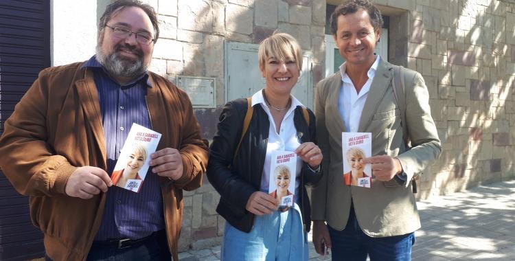 Ciuró i el seu equip s'ha reunit avui amb els responsables d'Aluvisa/ Ràdio Sabadell