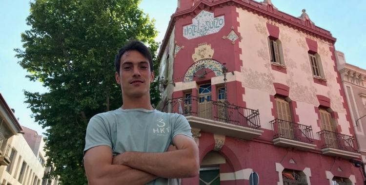 L'MVP de la temporada segons els oients de Ràdio Sabadell, Josu Ozkoidi, ha estat protagonista avui del programa Hotel Suís | Roger Benet