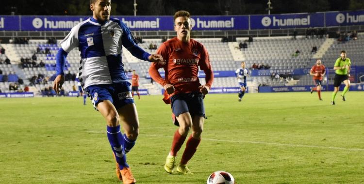 Néstor Querol al partit de la primera volta contra l'Olot | Adrián Arroyo
