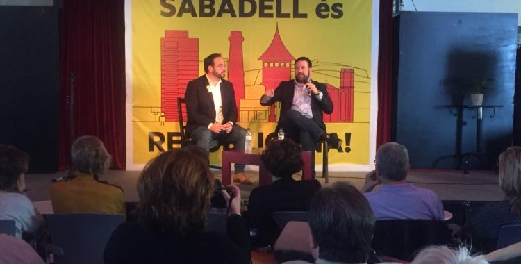 Juli Fernàndez i Jon Iñarritu a l'Espai Àgora de Sant Oleguer | Ràdio Sabadell