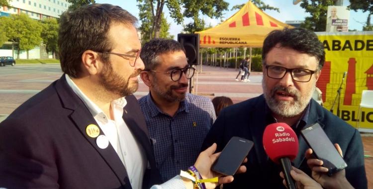 D'esquerra a dreta, Juli Fernàndez, Gabriel Fernàndez i Joan Josep Nuet | David B.
