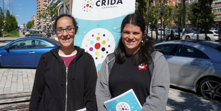 Anna Lara i Aurora Murillo atenent Ràdio Sabadell | Cedida