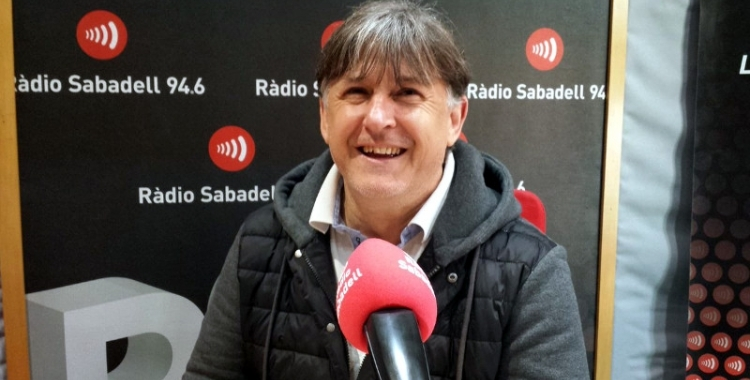 Jordi Grané en una entrevista a Ràdio Sabadell