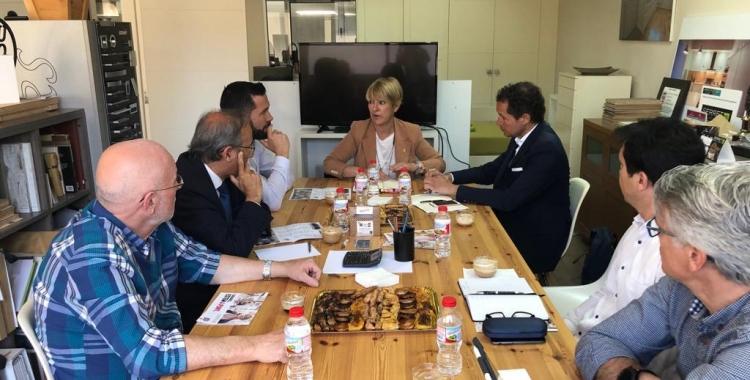 Ciuró, reunida amb els empresaris de Can Roqueta/ Cedida
