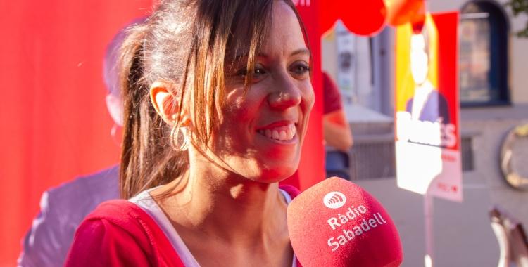 Marta Farrés aquesta tarda a la plaça de l'Imperial | PSC Sabadell