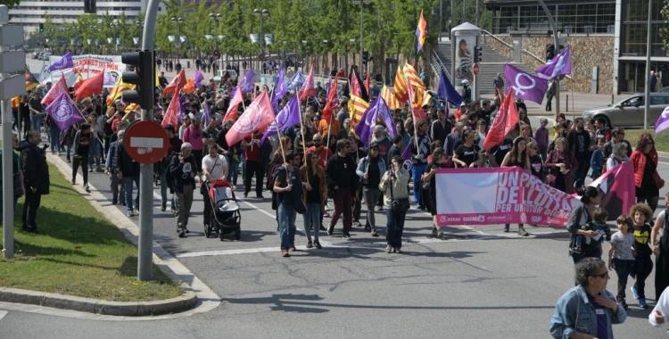 La manifestació al seu pas per l'Eix Macià   Roger Benet