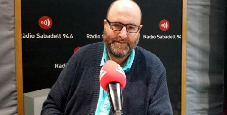 Miquel Soler en una entrevista a Ràdio Sabadell