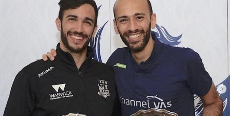 Pajares (esquerra) arriba a Tel Aviv amb la moral pels núvols després de ser segon a Wimbledon | Instagram