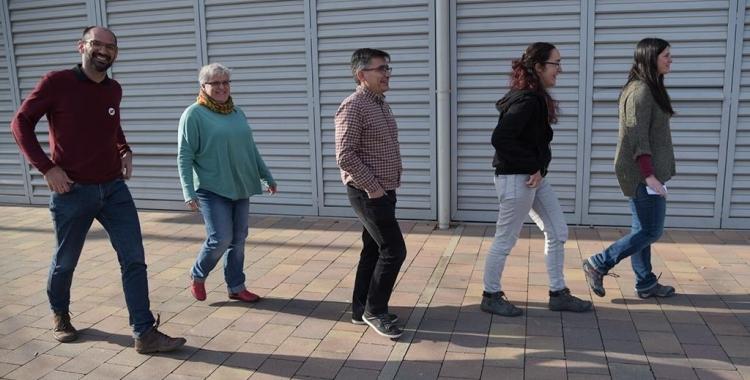 D'esquerra a dreta, Maties Serracant, Nani Valero, Lluís Perarnau, Anna Lara i Aurora Murillo | Roger Benet