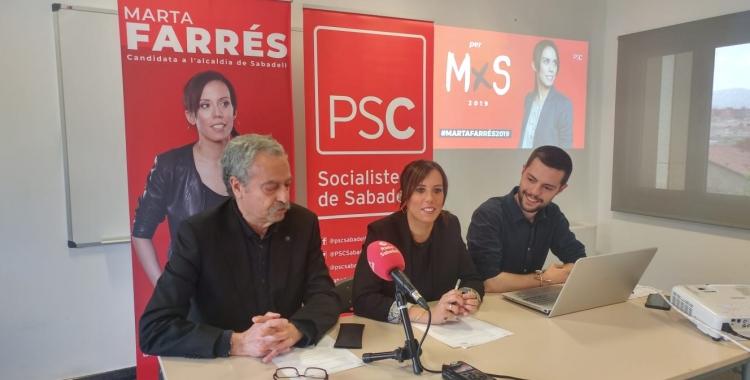 D'esquerra a dreta, Joan Marcet, Marta Farrés i Eloi Cortés | Pere Gallifa